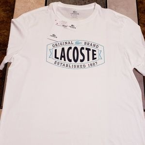 Mens Lacoste t-shirt size XL NWT